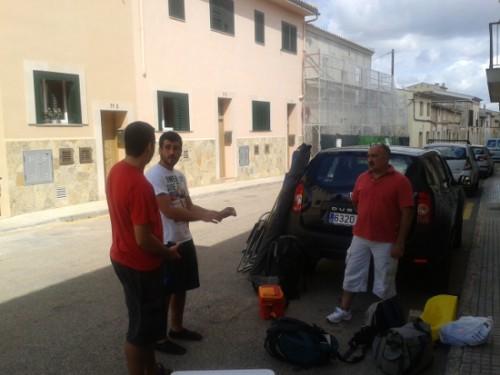 El Mallorca Team mirando de sopla el viento